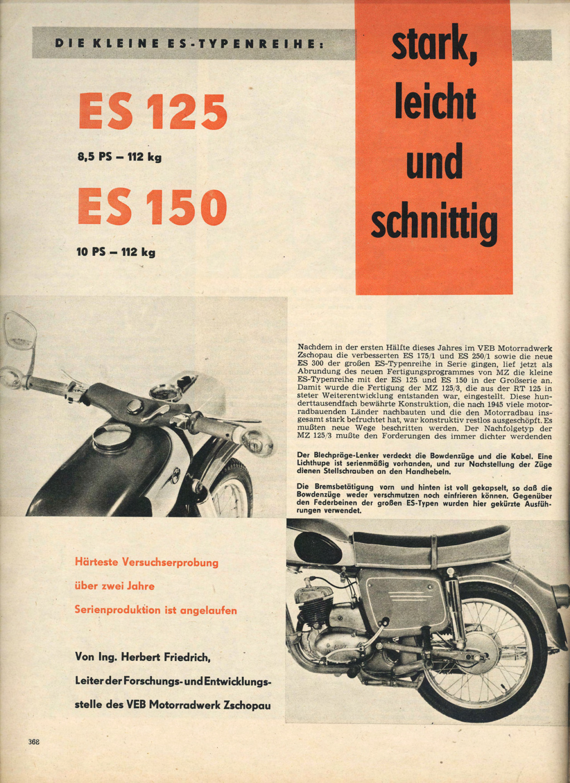 ES 125 / ES 150 : article Der deutsche Strassenverkehr n° 11/1962-11 Der-de10