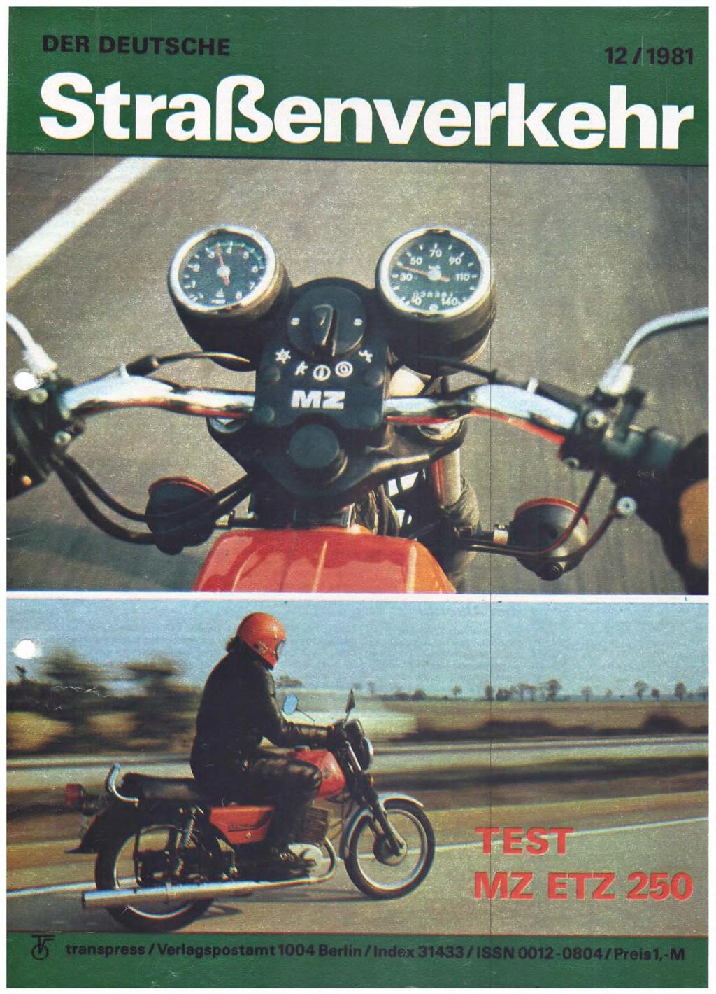 Test ETZ 250 Der deutsche Strassenverkehr, n° 12/1981) Der-de12