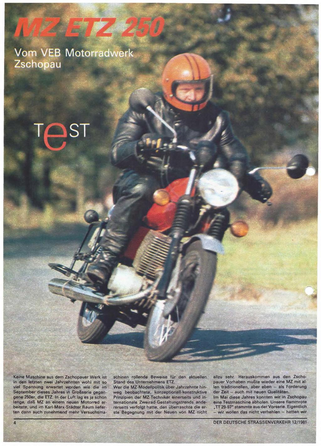 Test ETZ 250 Der deutsche Strassenverkehr, n° 12/1981) Der-de13
