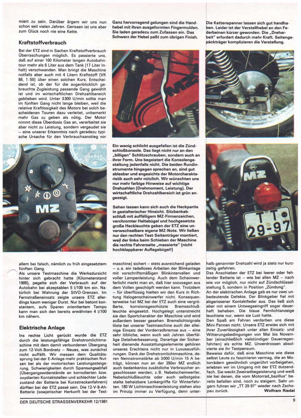 Test ETZ 250 Der deutsche Strassenverkehr, n° 12/1981) Der-de18