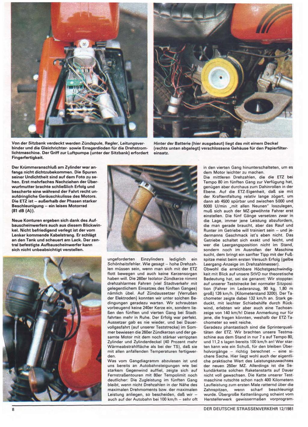Test ETZ 250 Der deutsche Strassenverkehr, n° 12/1981) Der-de19