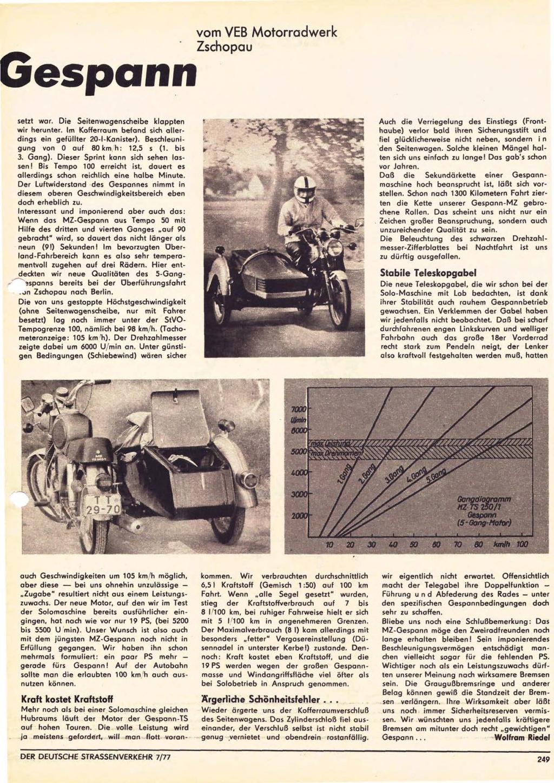 """TS 250 5 vitesses : essai """"Der deutsche Strasserverkehr (n° 7/1977) Derdeu22"""