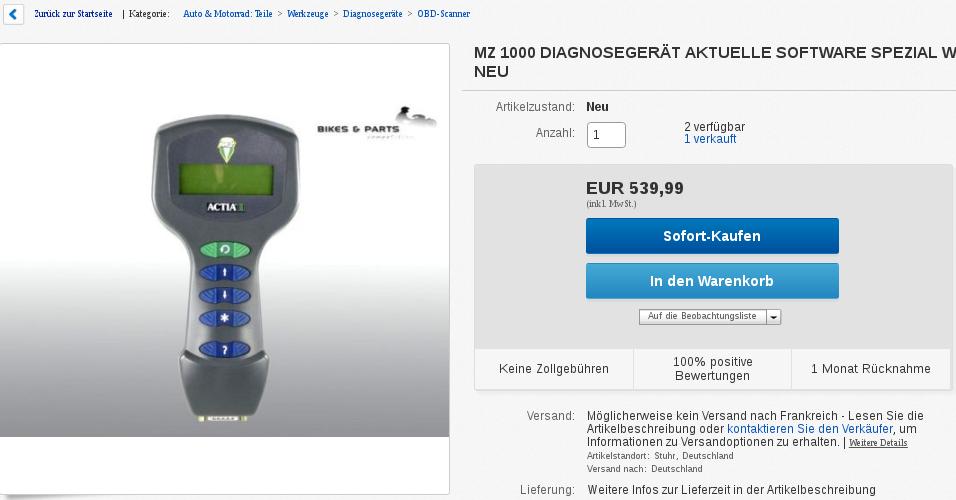 Les MZ1000 Diagno10
