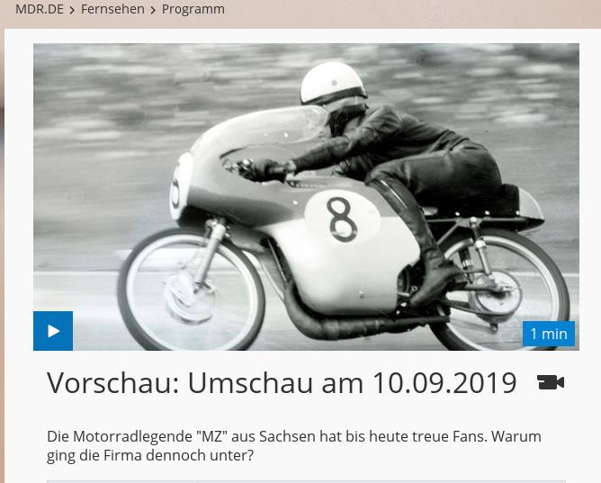 "Vidéo : ""Motorräder aus Zschopau"" [Motos de Zschopau], MDR, 10/09/2019 Mdr-um10"