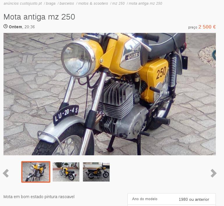 MZ au Portugal Mz25010
