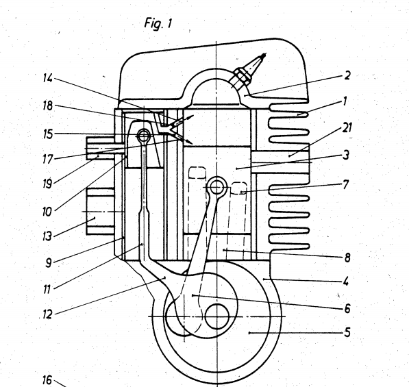 Prototype MZ ETZ 150 à injection Patent10