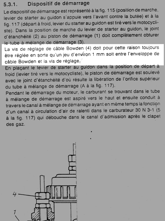 Réglage du carburateur BVF 22N2 pour ETZ 125 - Page 5 Starte11