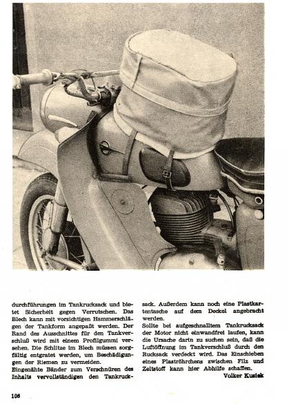 Sacoche de réservoir (magazine practic 3/1970) Tankru11