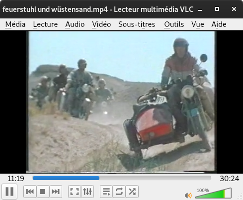 Treck dans le desert de Karakoum Vlc10