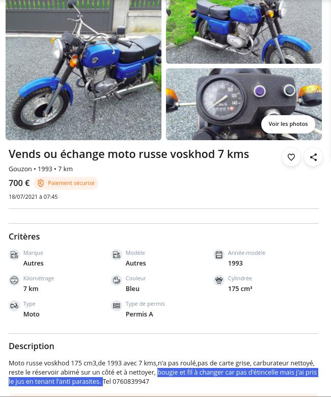 Plus à l'est : les motos Voskod Voskho12