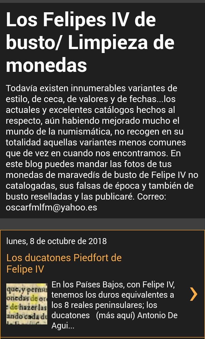 Blog sobre monedas de busto de Felipe IV y sobre limpieza y conservación de monedas Img_2058
