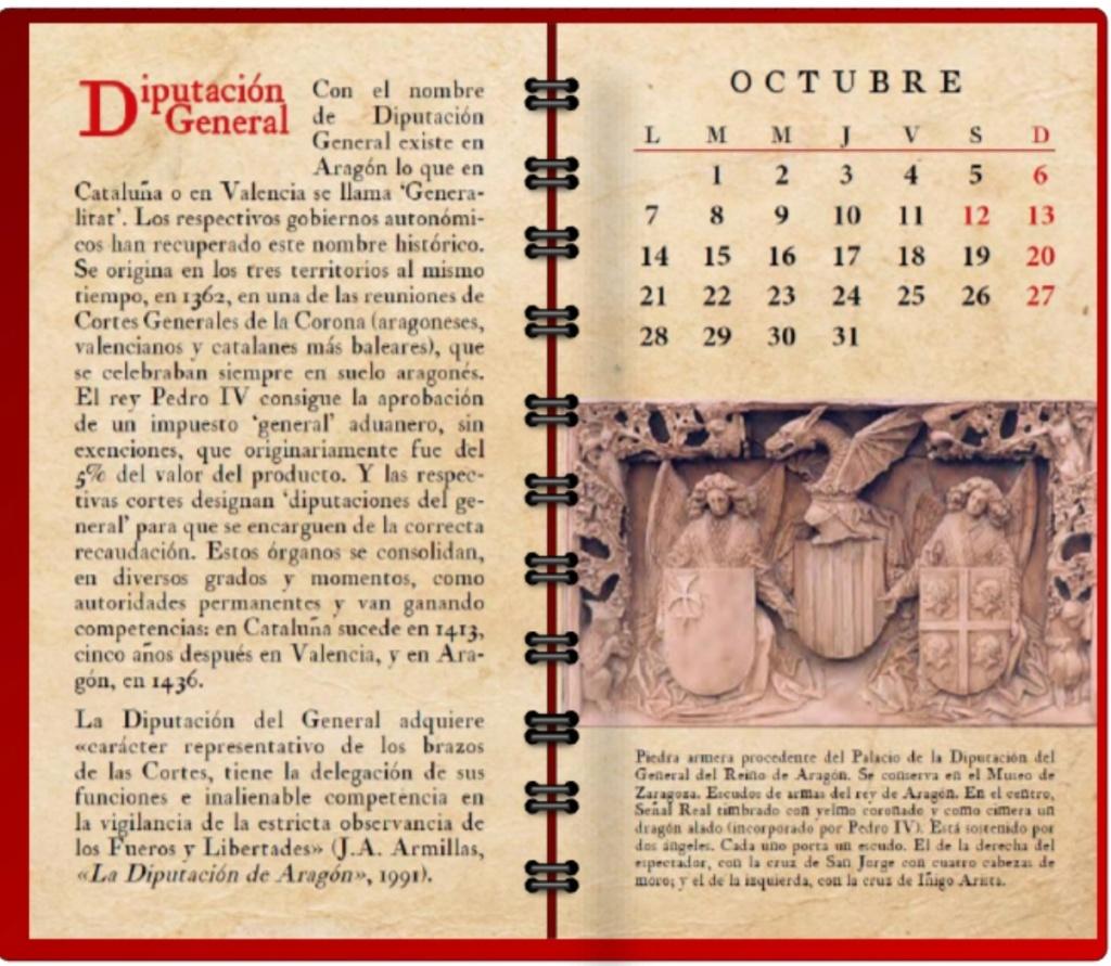 La historia de Aragón como debe ser: los orígenes de la Diputación General Octubr10