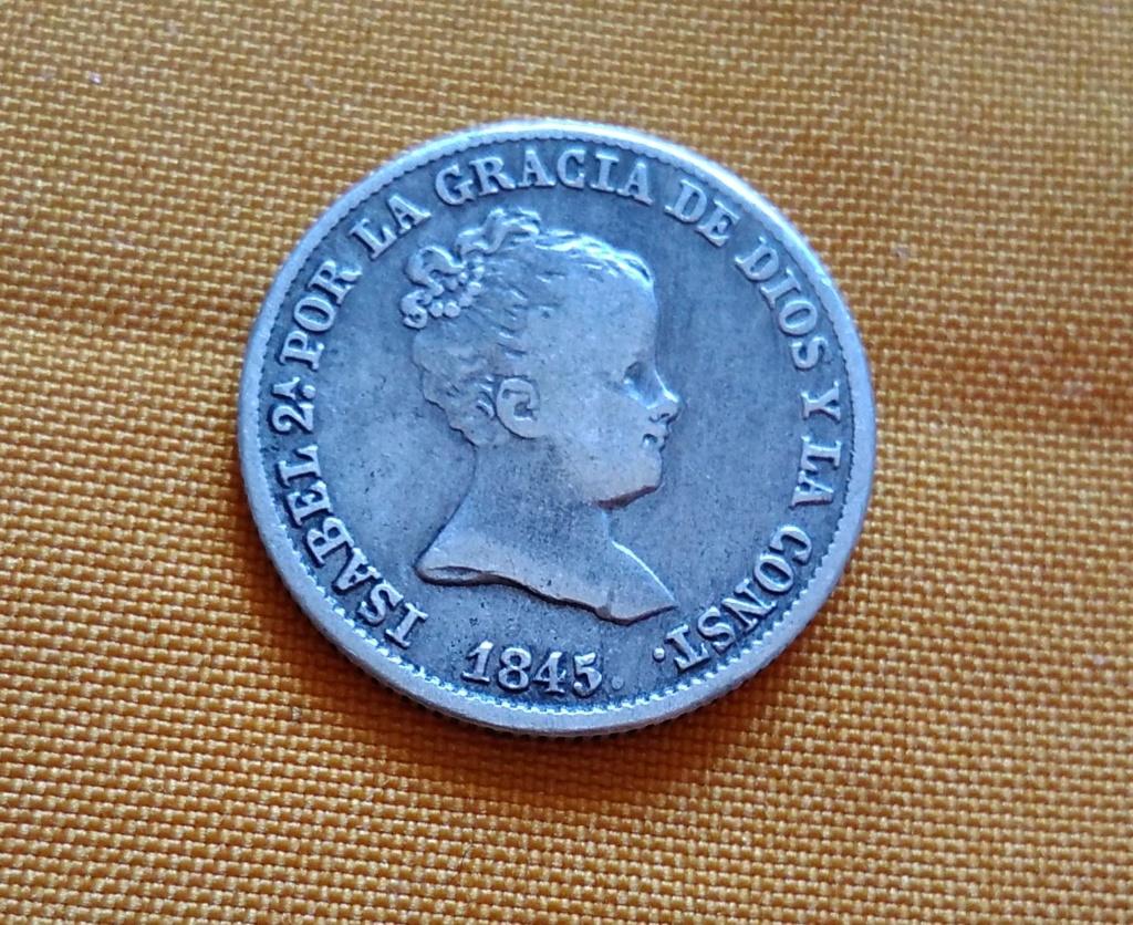 1 real 1845. Isabel II. Madrid 11110