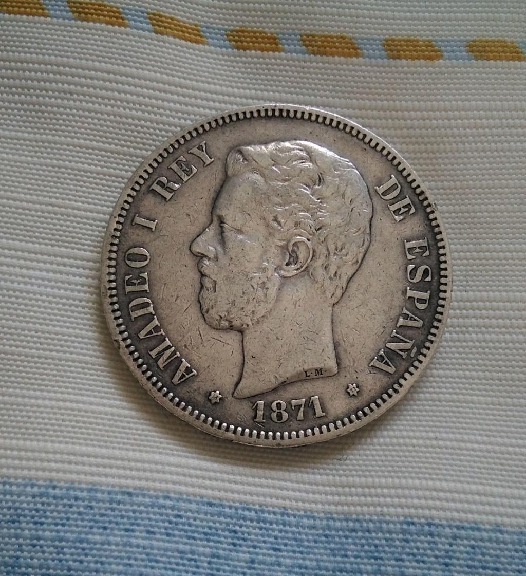 5 pesetas 1871 (*18*71). Amadeo I 118