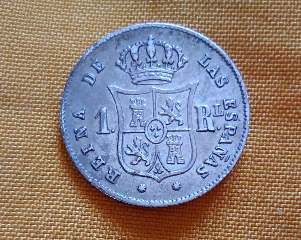 1 real 1857. Isabel II. Barcelona 216