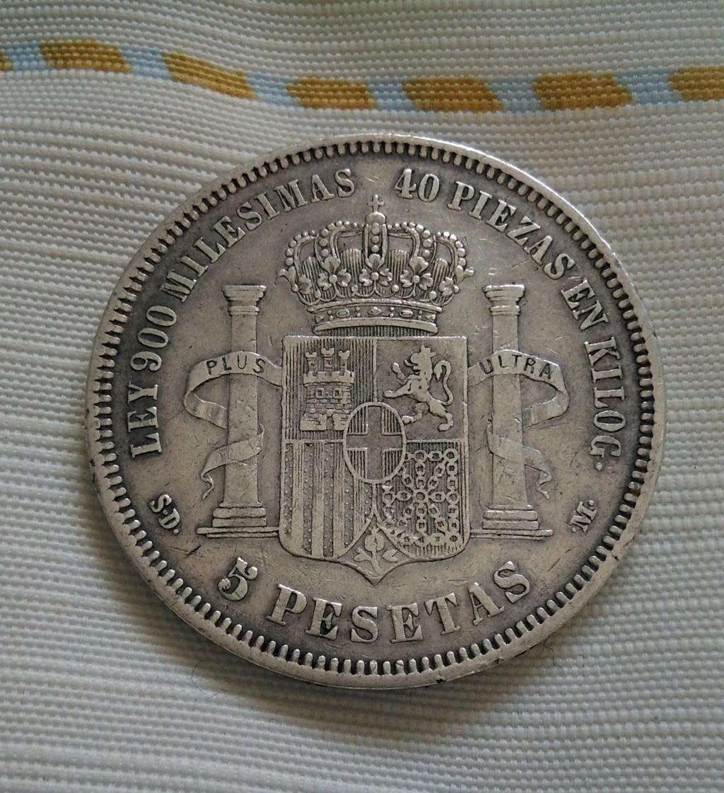 5 pesetas 1871 (*18*71). Amadeo I 218