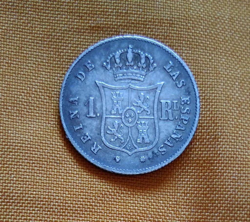 1 real 1852. Isabel II. Barcelona 2210