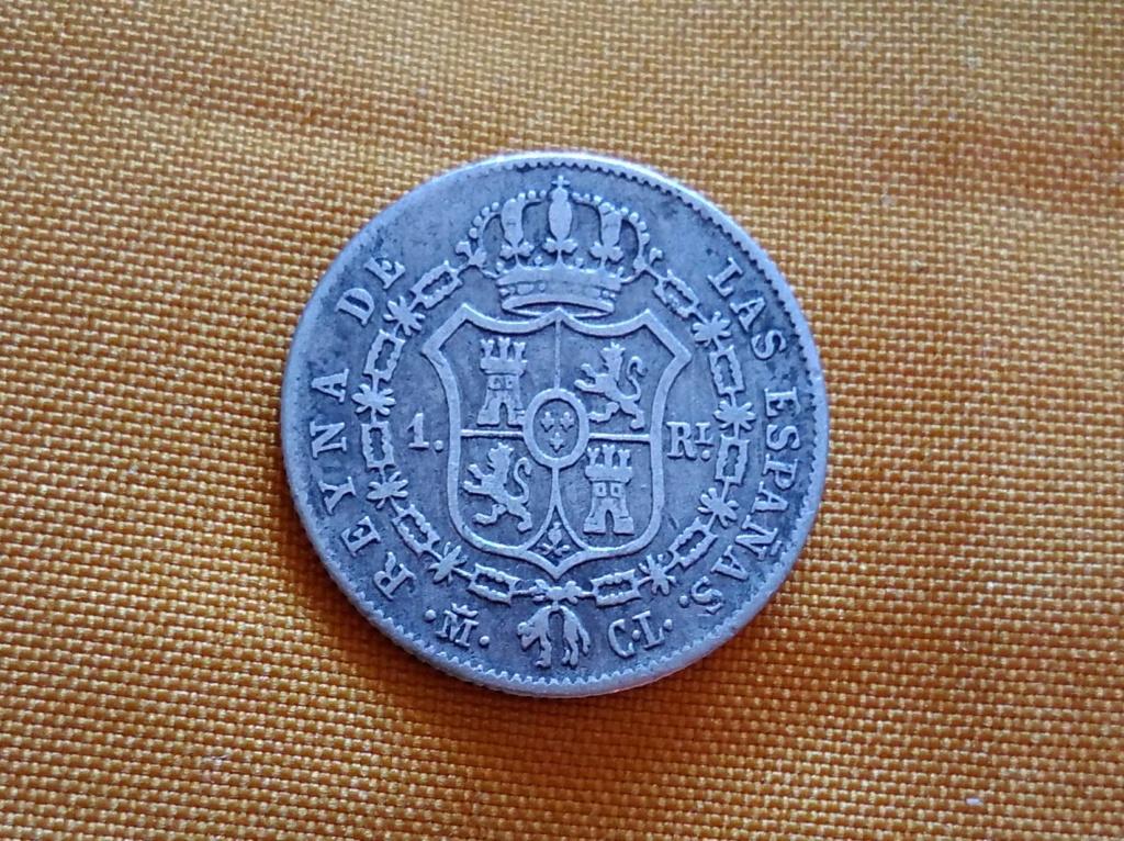 1 real 1845. Isabel II. Madrid 22210