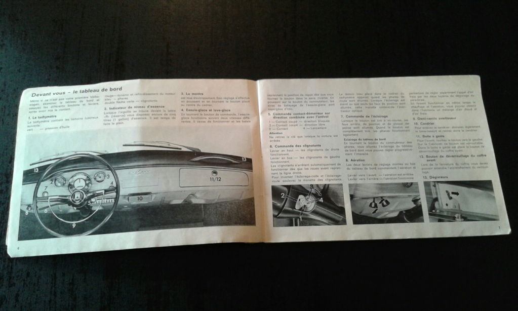 Livret notice karmann ghia Aout 67 modèle 68 20190121