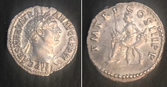 Denario de Trajano. P M TR P COS III P P. Roma Img-2031