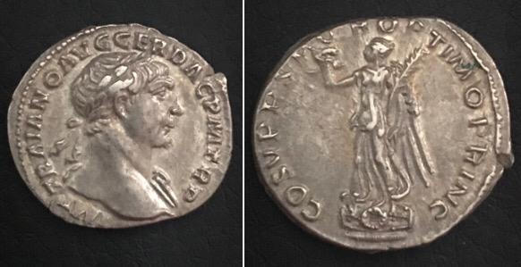 Denario de Trajano. COS V P P S P Q R OPTIMO PRINC. Roma Img-2033