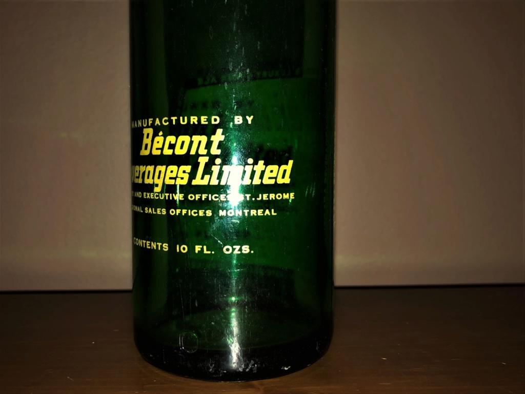 Bouchon et bouteille liqueur Ginger Ale de Bécont Bzocon10