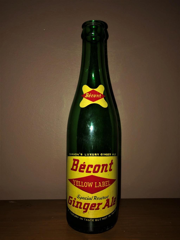 Bouchon et bouteille liqueur Ginger Ale de Bécont Bzocon11