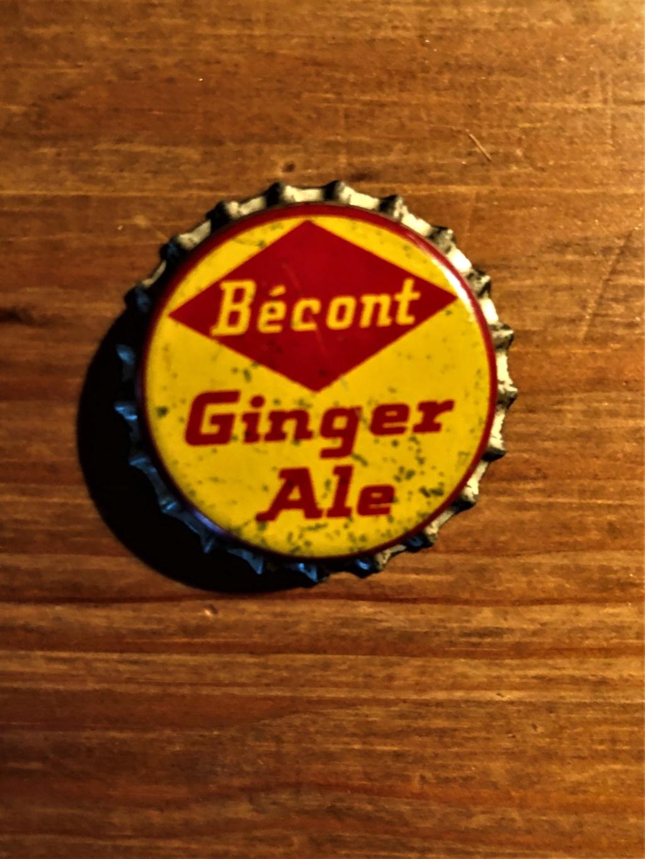 Bouchon et bouteille liqueur Ginger Ale de Bécont Bzocon12