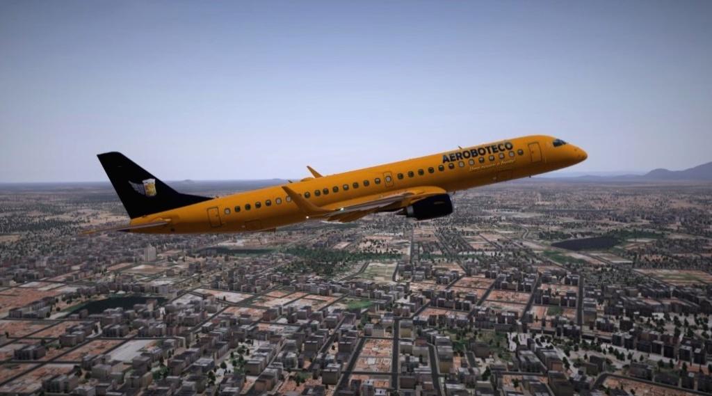 Textura Embraer 195 Evo Xplane 11 E19510