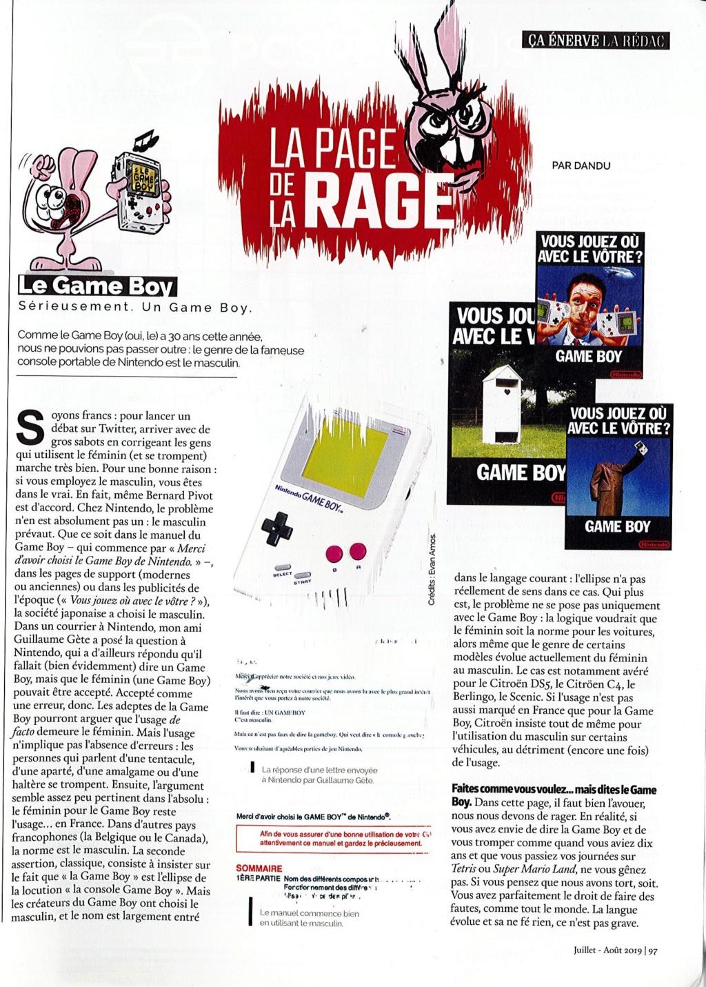 Le / La Gameboy : l'éternel débat ! Doc31010