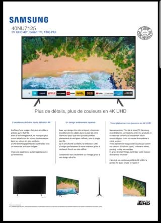 [INFO] TV SAMSUNG 40 NU 7125 20181030