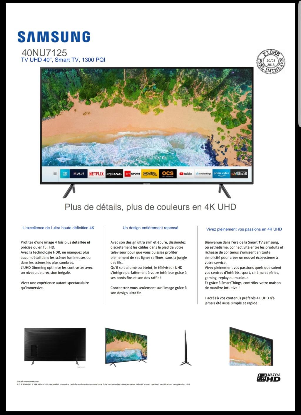 [INFO] TV SAMSUNG 40 NU 7125 20181033