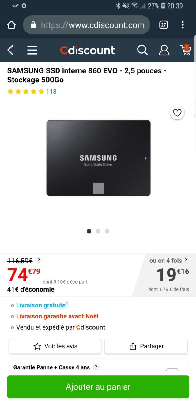 [EN COURS] Bons plans SSD Screen14