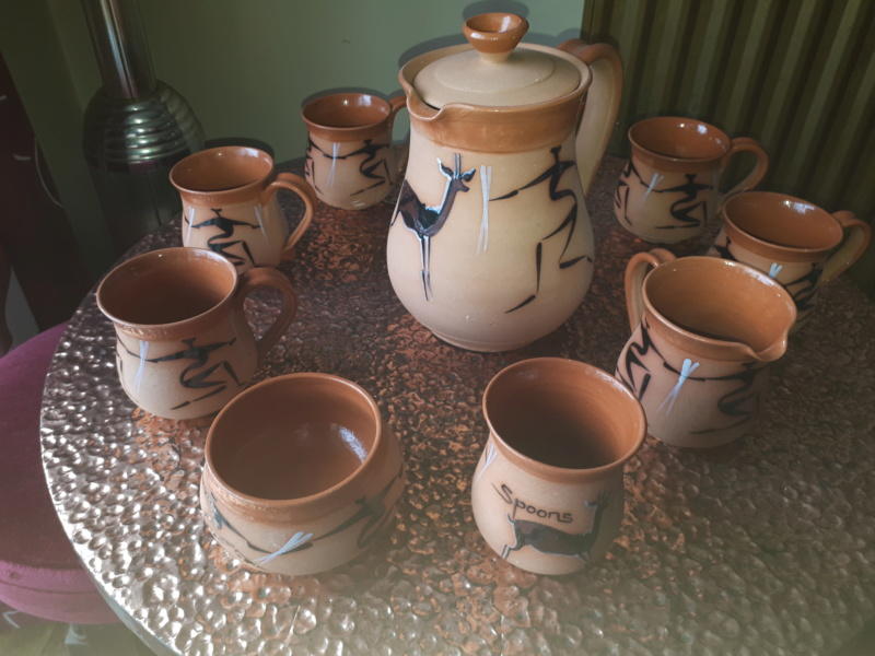 Stick men tea set - Simba Pottery, Harare, Zimbabwe  20181035