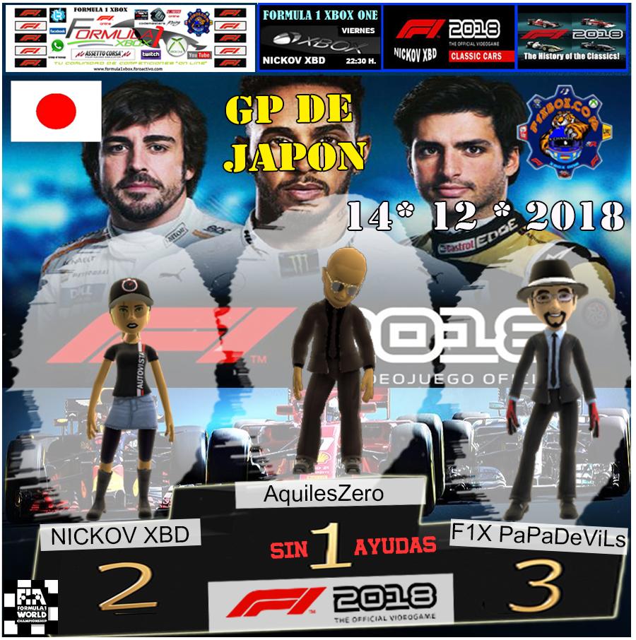 F1 2018 *** CAMPEONATO NIKI LAUDA *** SIN AYUDAS *** RESULTADOS Y PODIUM *** GP DE JAPON *** 14 - 12 - 2018 Podio_13