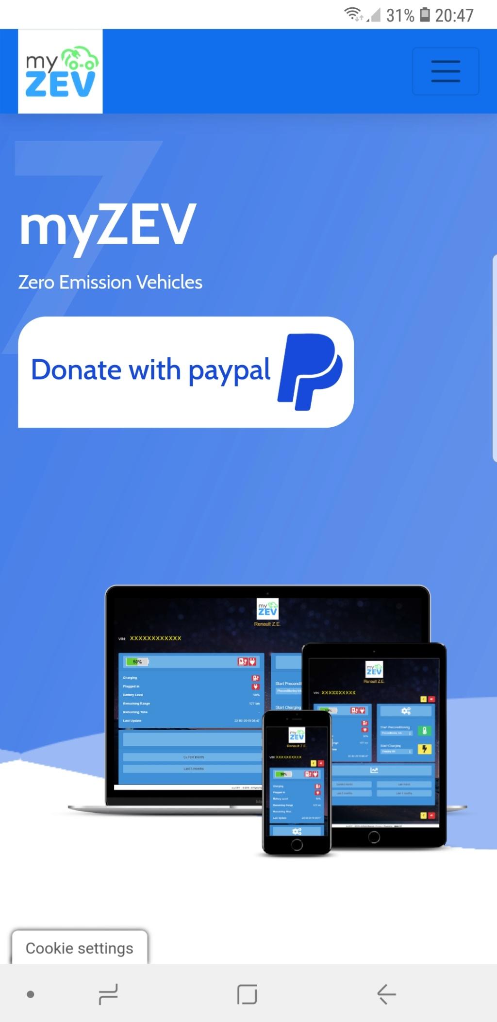 Application myzev.info, alternative enrichie à ZE Services - Page 5 Screen12