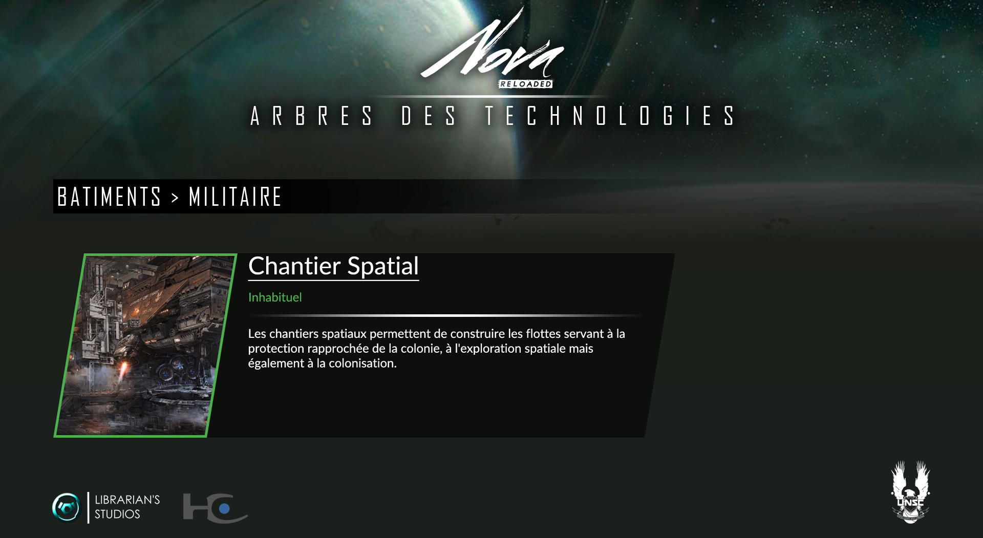 Space Territory #4.1 : Arbre Technologique CSNU : Bâtiments Milita10