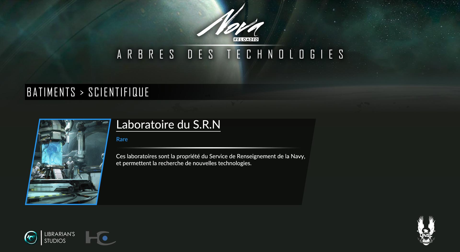 Space Territory #4.1 : Arbre Technologique CSNU : Bâtiments Scient10