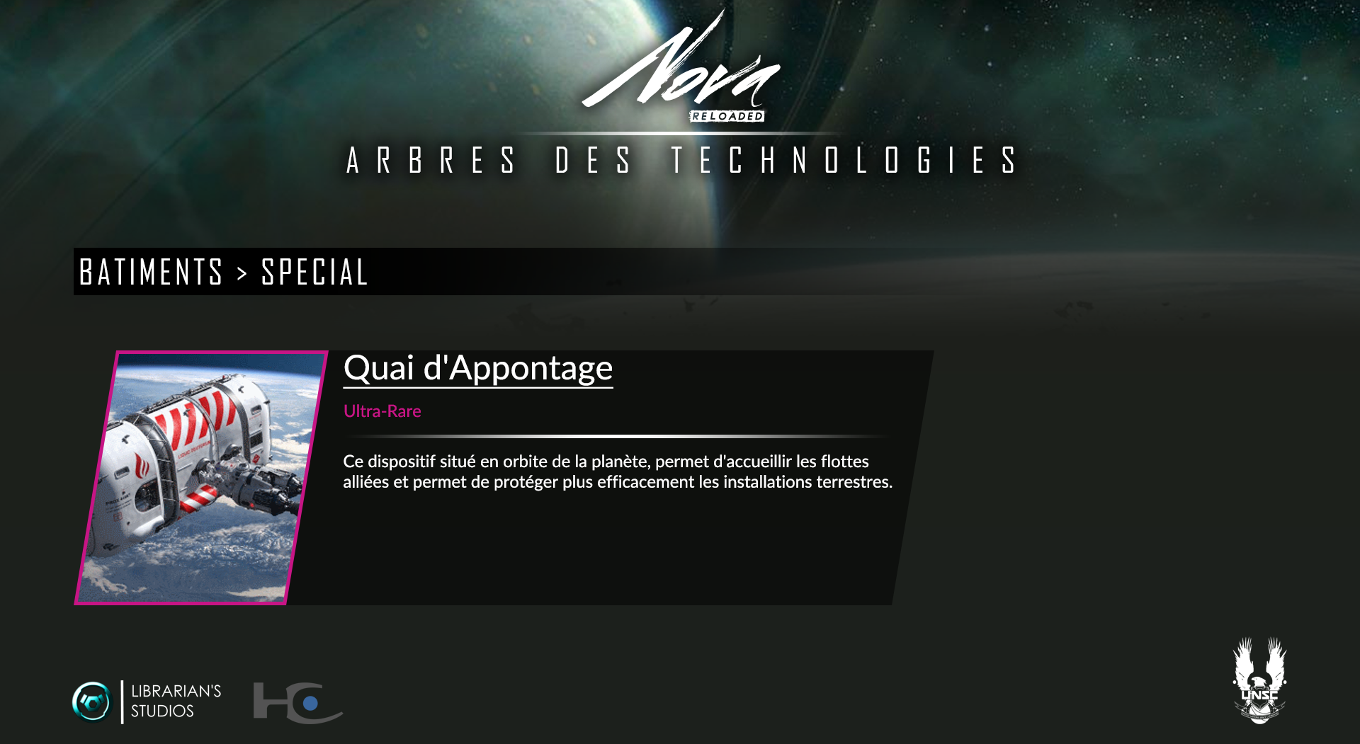 Space Territory #4.1 : Arbre Technologique CSNU : Bâtiments Specia10