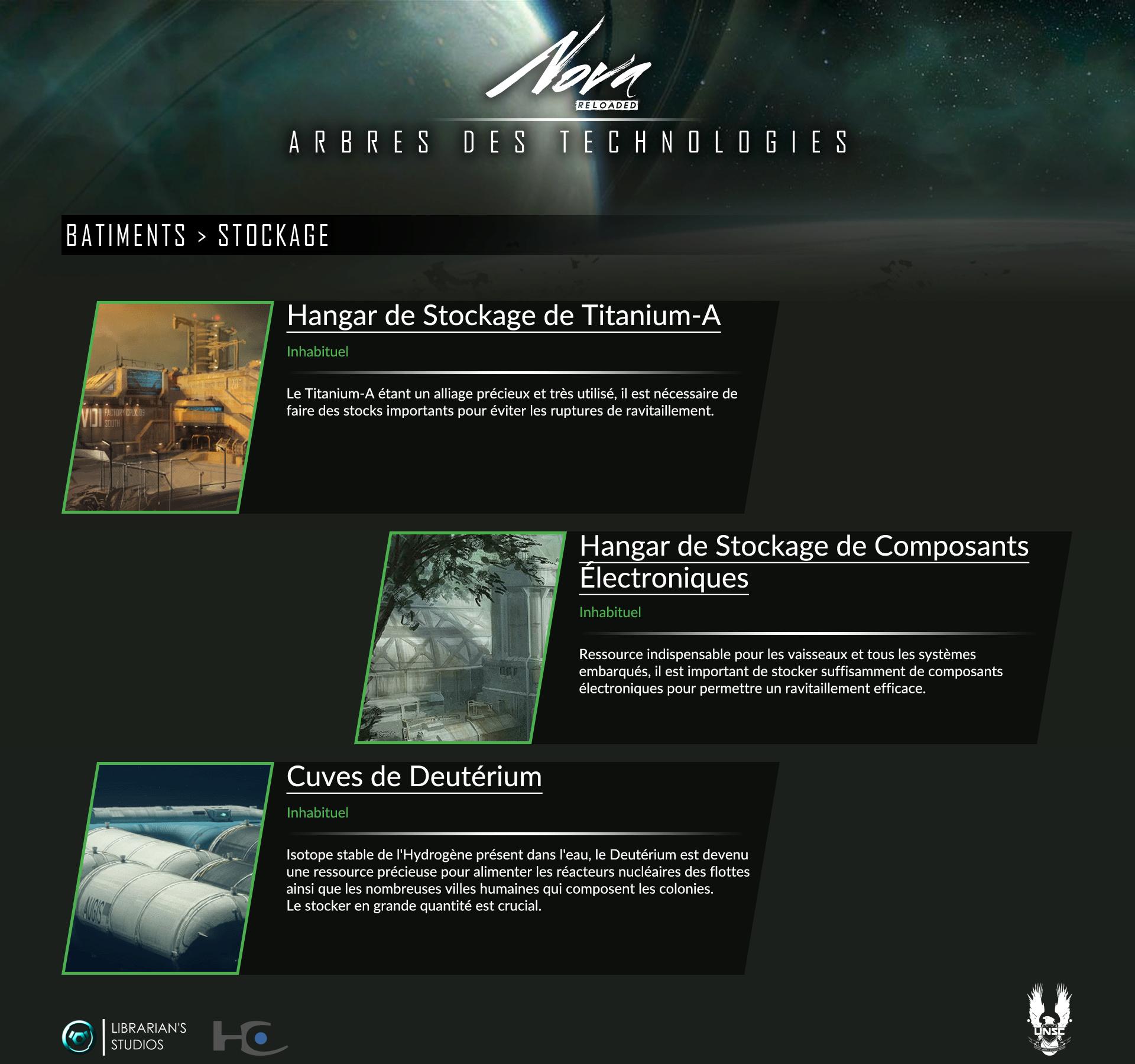 Space Territory #4.1 : Arbre Technologique CSNU : Bâtiments Stocka10