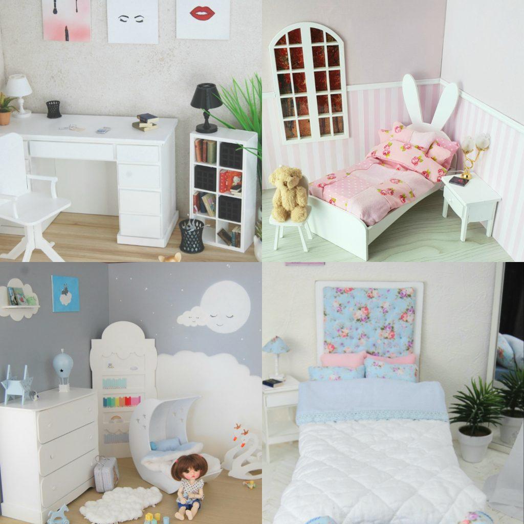 Dioramas, meubles, miniatures pour dolls 1/8, 1/6 et 1/4 Img_2012