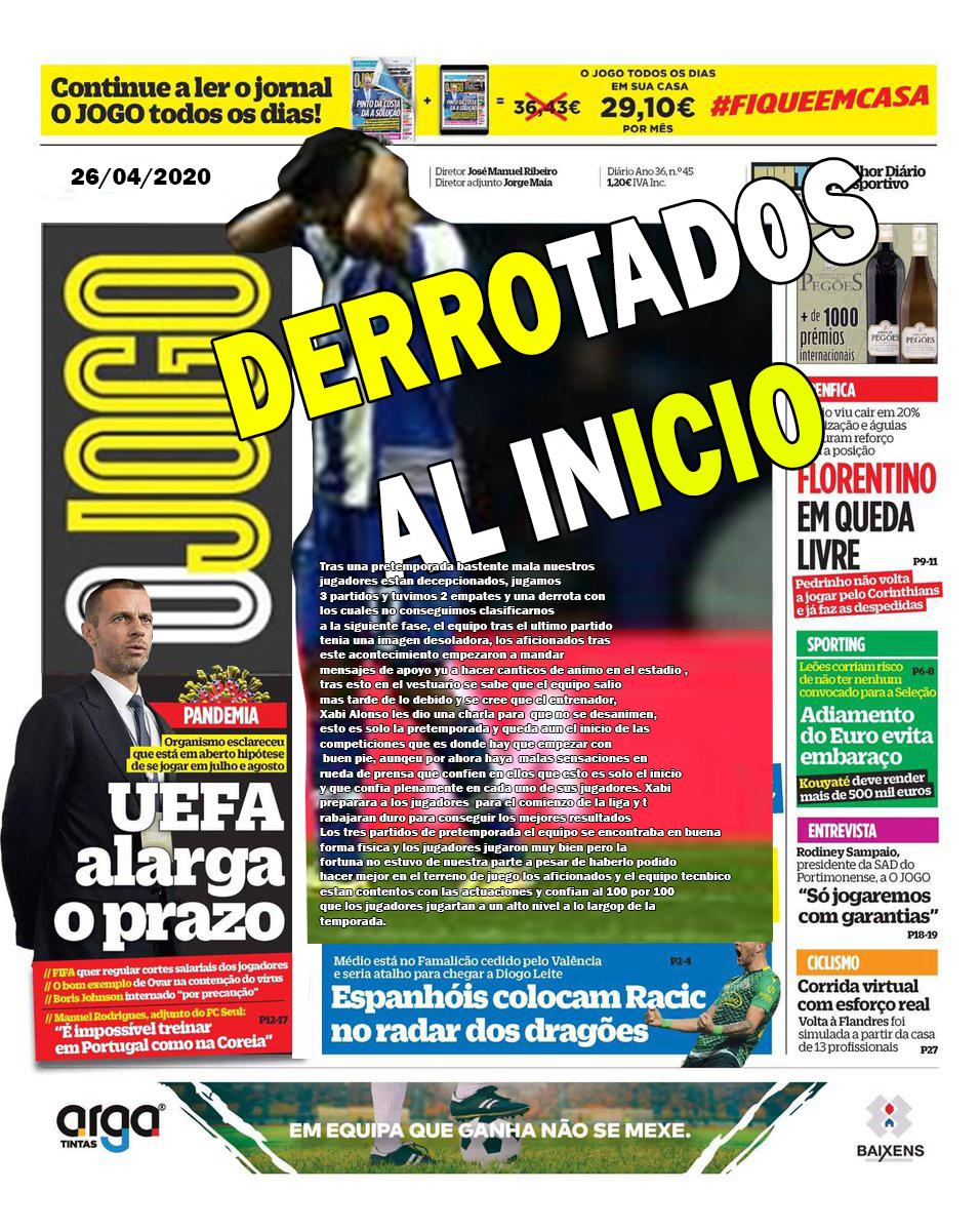 DIARIO O JOGO II FC PORTO  Diario10