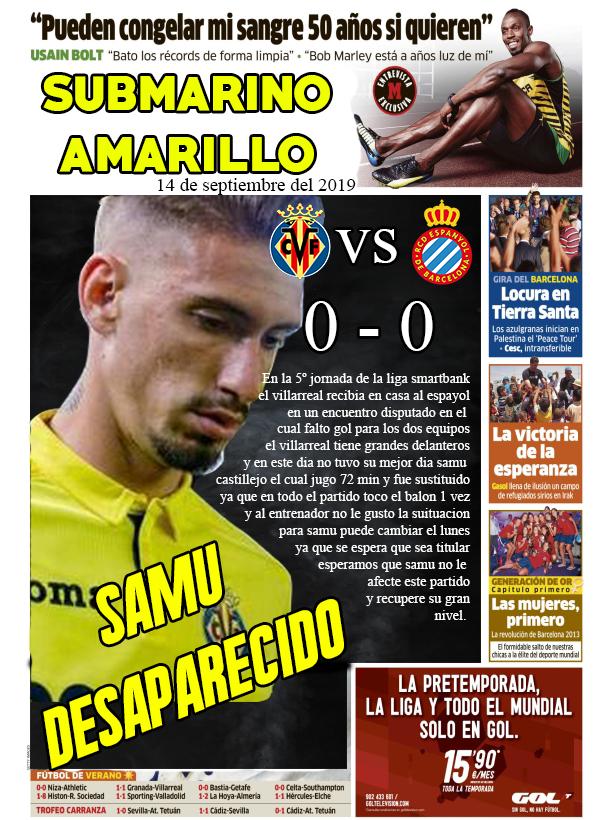 """Diario """"SUBMARINO AMARILLO"""" 14/09 Diario12"""