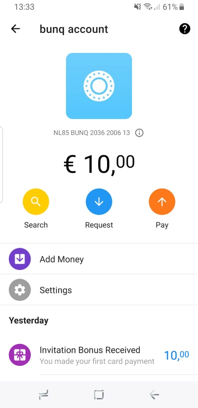 OPORTUNIDADE [Testar] - Campanha BUNQ 10€ 68717410