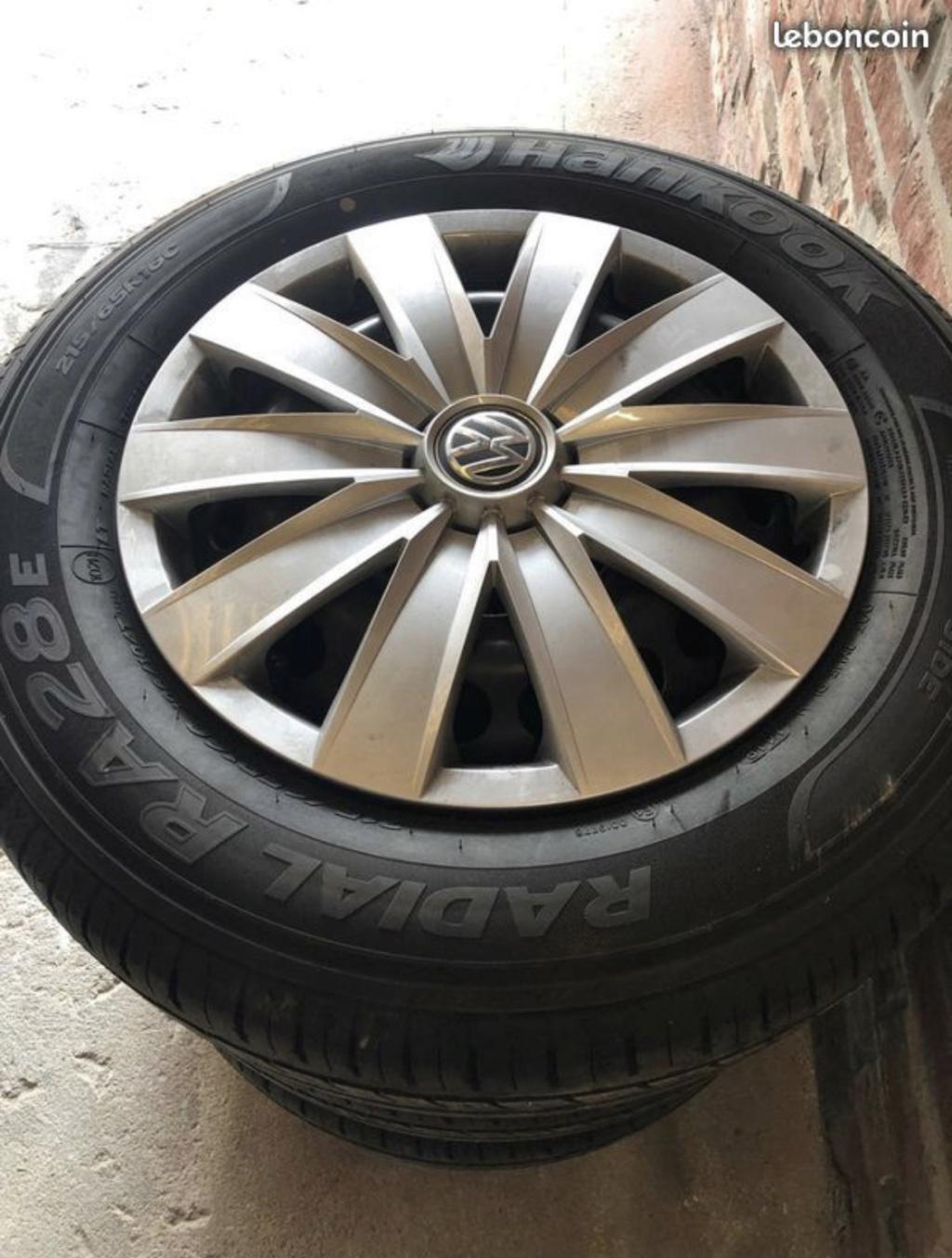 4 Roues + pneus Hankook 215/65R16 + enjoliveurs T6 - Neufs 55d83510