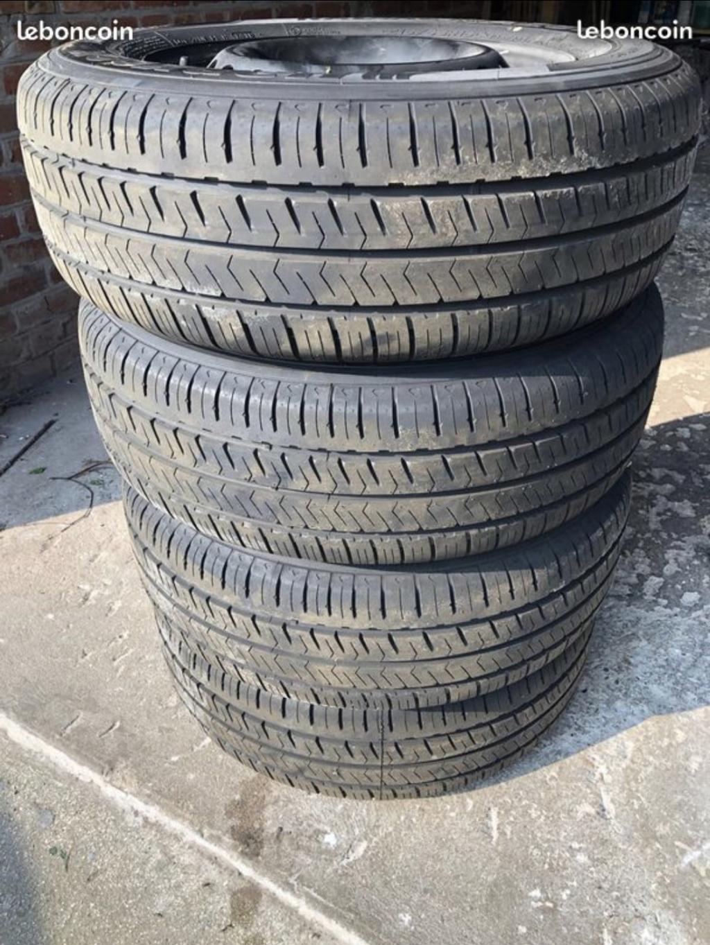 4 Roues + pneus Hankook 215/65R16 + enjoliveurs T6 - Neufs B4dea610