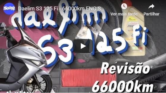 Daelim S3 125 - 66.000km! Revisão c/ video!  Thumby10