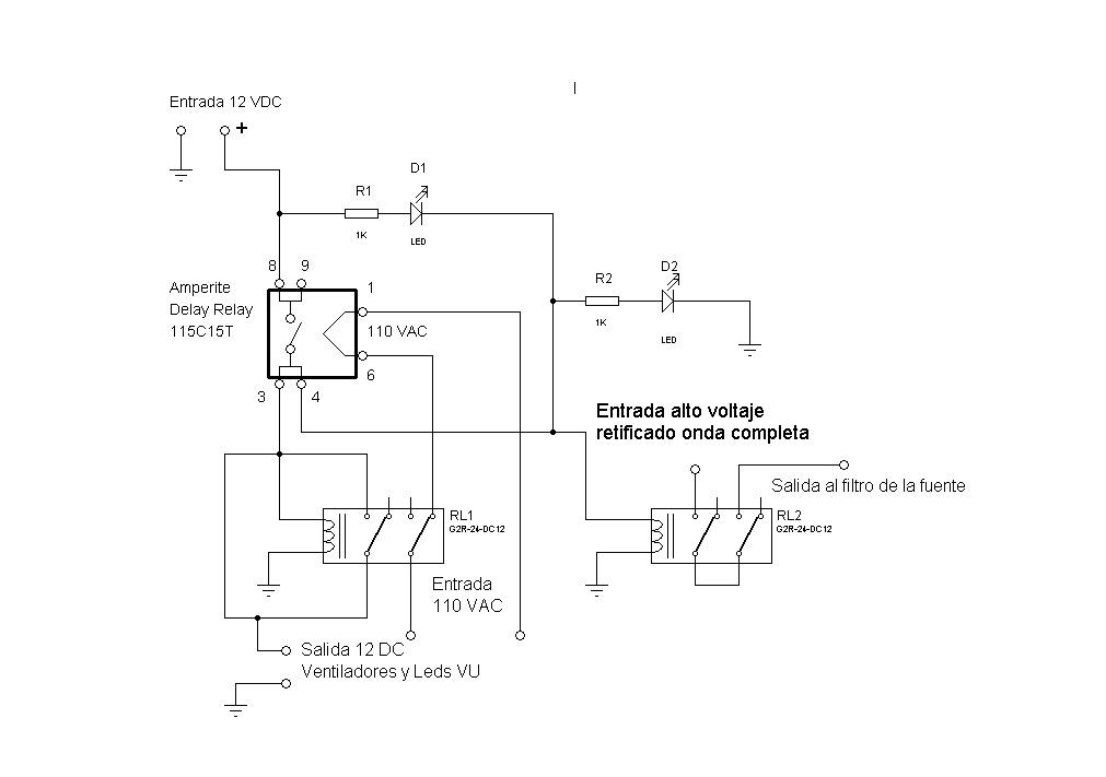 Uso de un relay de demora en un amplificador valvular Demora11