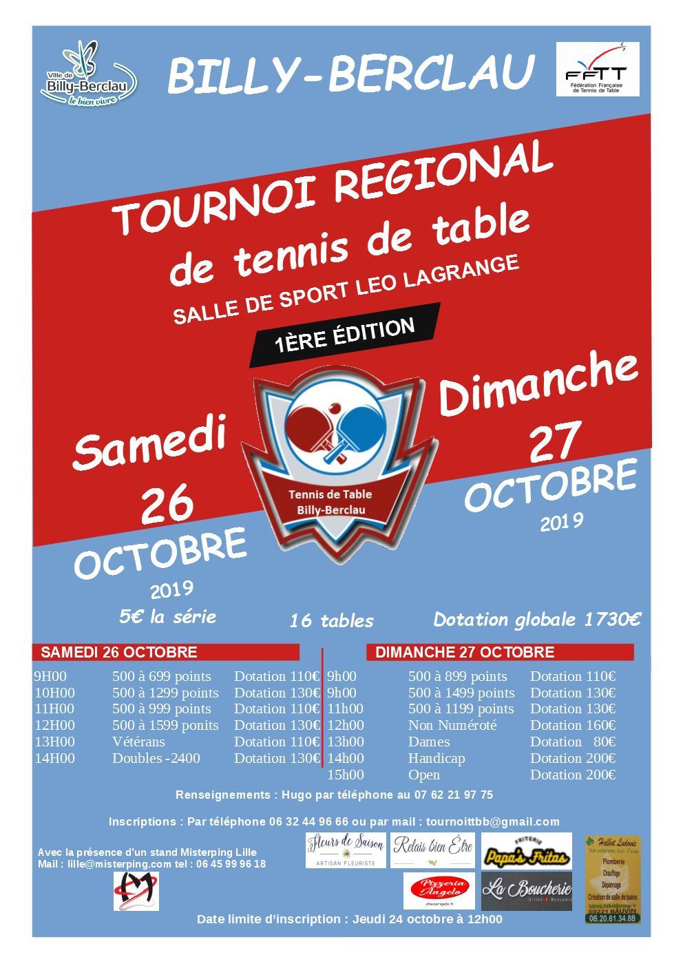 TOURNOI BILLY-BERCLAU LE 26 ET 27 OCTOBRE 2019 Sans_n11