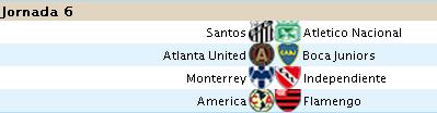 Alineación Liga Santander - Jornada 6 6s10